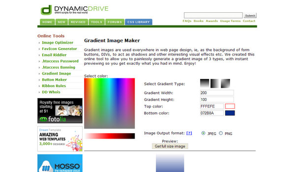Gradient Image Maker by DynamicDrive
